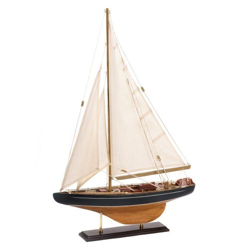 Wood Canvas Sail Bermuda Tall Ship Model Nautical Decor (Sailboat Model compare prices)