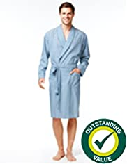 Lightweight Striped Dressing Gown