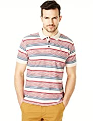 North Coast Pure Cotton Varied Striped Polo Shirt