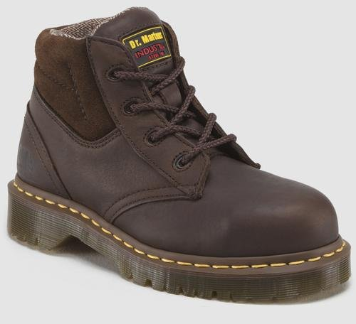 Dr. Martens Industrial Men'S 7B09 4 Eye Steel Toe Work Boot (Bark/Brown 11.0 M) front-788060