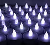 60 PCS Battery Operated Flameless Flickering LED Tealights Candles for Wedding, Luminary Bags, Decorations, Centerpieces, Holidays~ Cool White ~BlueDot Trading