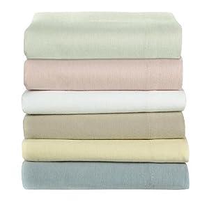 Sealy Best Fit 100% Cotton Luxury Weight (5oz) Flannel Queen Sheet Set - White