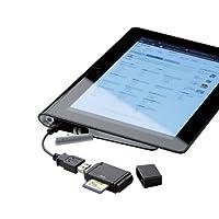 ELECOM メモリリーダライタ スマホ・タブレット用 直挿し microB変換アダプタ付 SD専用 ブラック MRS-MB02BK