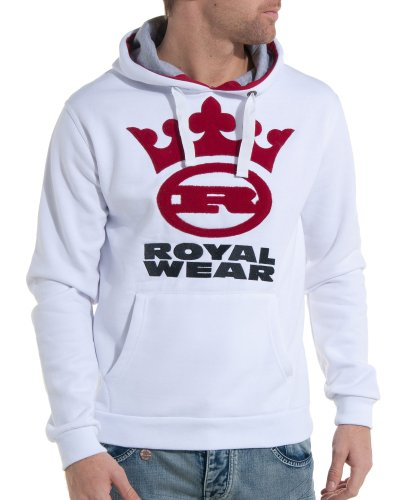 Royal Wear - Hooded sweatshirt white man fashion and trend - Color: White Size: S