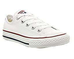 Converse Boys\' Youths Chuck Taylor All Stars Ox Wht Optic - White - 1 YTH