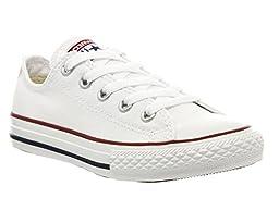 Converse Boys\' Youths Chuck Taylor All Stars Ox Wht Optic - White - 1 YTH