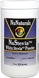 NuStevia White Stevia Powder, 12 oz (340 g) Pack of 2
