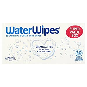 WaterWipes Super Value Box, 9 x 60 Wipes  (Total 540 Wipes)