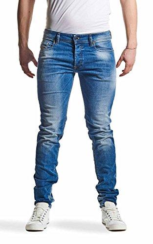 Diesel Uomo Sleenker 0670K Slim Skiny Jeans, Blu, 30W x 32L