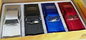 Jada Toys 1/24 Scale Diecast Big Time Muscle 1967 Chevy Impala Ss Box of 4 Cars
