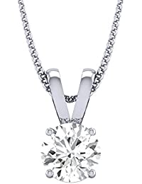 Diamond Farm 0.25 Carat Yellow Gold And Diamond Solitaire Pendant