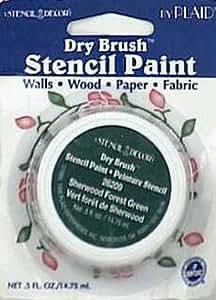 6 each: Stencil Decor Dry Brush Stencil Paint (26209)