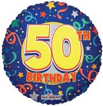 "18"" Foil Balloon 50th Birthday Streamers (1 Ct)"