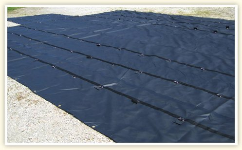 Tarps - Heavy Duty 3 Pc Lumber Tarps 8 Ft Drop 18 oz Vinyl
