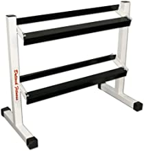 Deltech Fitness 36quot Two-Tier Dumbbell Rack