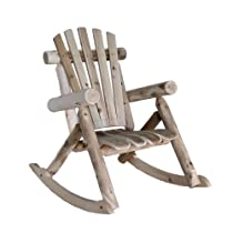 Cedar Log Rocking Chair, Natural