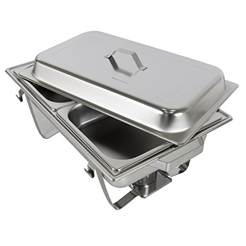 Best Choice Products Chafing Dish (set of 2) of 8 Quart Stainless Steel Full Size Tray Buffet Catering