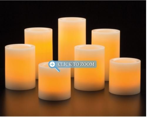flameless led 7 pack wax candles with remote control new free shipping ebay. Black Bedroom Furniture Sets. Home Design Ideas