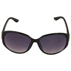 Eyeland Non-Polarized Oversized Sunglasses (Black, EYE239)