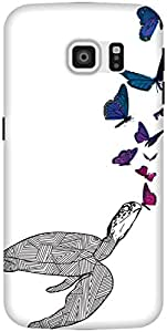 The Racoon Lean printed designer hard back mobile phone case cover for Samsung Galaxy S6 Edge. (Butterfly)