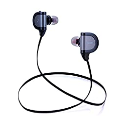 XGL Bluetooth 4.1 Headphones Wireless In Ear Stereo Earbuds Sports Headset with Mic Sweatproof Noise Cancelling for iPhone Android Smartphones