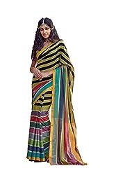 AASRI Women Cotton Blend Printed Work Saree