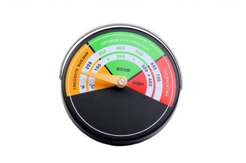 Magnetic Color-Coded Stove Thermometer For Safe Wood Burning From Boone Hearth (Magnetic Stove Pipe Thermometer compare prices)