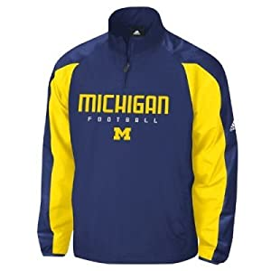 Adidas Michigan Wolverines Coaches Pullover Jacket by adidas