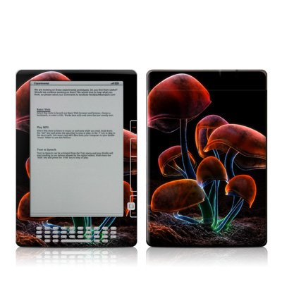 Fluorescence Rainbow Design Protective Decal Skin Sticker For Amazon Kindle Dx 9.7 Inch E-Book Reader front-565294