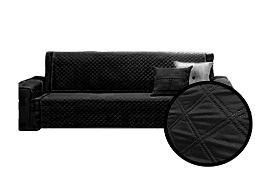 A-Express-Schwarz-170cm-x-177cm-3-Sitzer-Sesselschutz-Sofaschutz-Haustier-hussen-Sessel-berwrfe