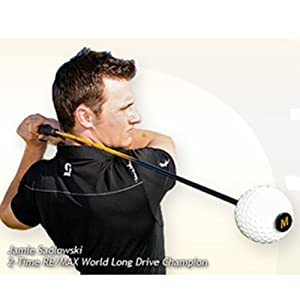 Momentus Junior Speed Whoosh Golf Swing Trainer with Training Grip, Right Hand