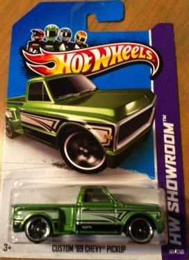 Hot Wheels HW Showroom Custom '69 chevy Pickup 161/250 2013