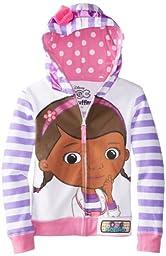 Disney Little Girls\' Doc Mcstuffins Hoodie, White Multi, 5/6