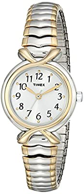 Timex Women's T21854 Elevated Classics Two-Tone Expansion-Band Watch