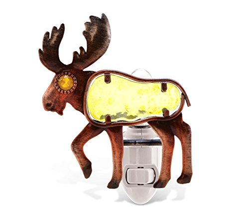 Puzzled Night Light Moose - 1