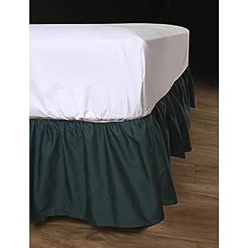 Ruckel MFG Harmony Lane Dust Ruffled Full Bed Skirt with Platform, White