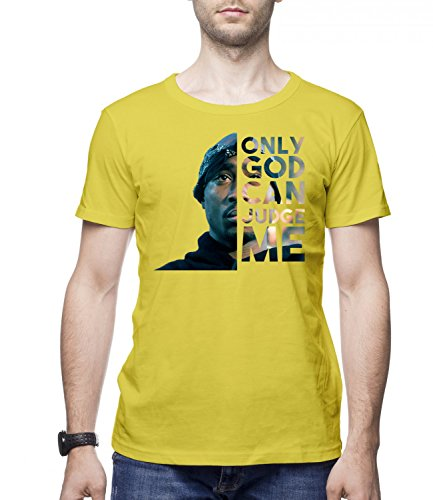 ONLY GOD CAN JUDGE ME - TUPAC Men's CLASSIC Crew neck T-Shirt Giallo X-Large
