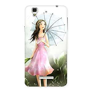Cute Umbrella Princess Multicolor Back Case Cover for Yu Yureka