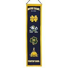 Buy NCAA Notre Dame Fighting Irish Heritage Banner by Winning Streak