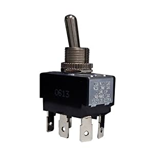 Morris 70131 Heavy Duty Toggle Switch, DPDT, On-On, Quick Connect Terminals, 2 Poles