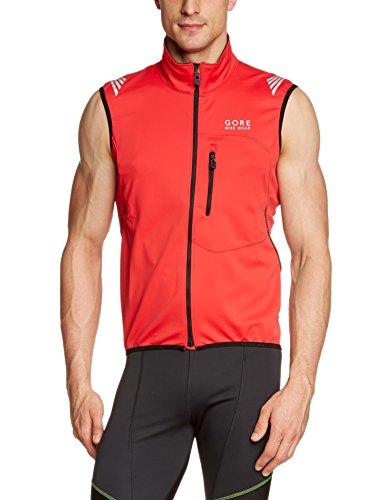 Gore Bike Wear Men's Element Windstopper  Soft Shell Vest, Red, X-Large