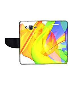 KolorEdge Printed Flip Cover For Samsung Galaxy On5 Multicolor - (1478-50KeMLogo11106SamOn5)