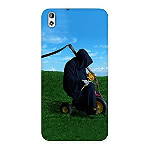 Ajay Enterprises Wo Funny BlackGhost Sit Back Case Cover for HTC Desire 816