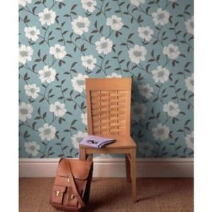 Superfresco Lucie Wallpaper - Duck Egg by New A-Brend