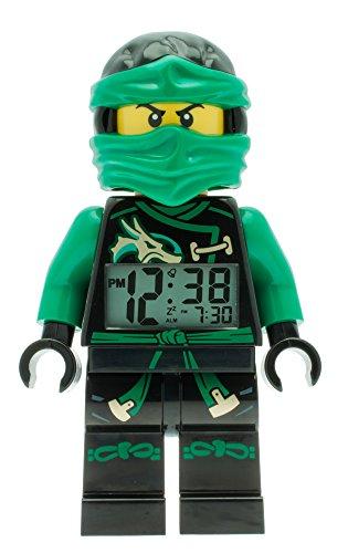 LEGO Ninjago Masters of Spinjitzu - Despertador con pantalla LED, color verde y negro