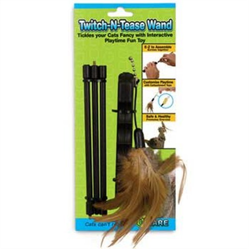 Sale alerts for Ware Ware 10925 Twitch-N-Tease Wand Cat Toy - Covvet
