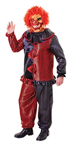 Adults Halloween Zombie Clown Costume and Mask