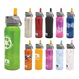 Nathan Hydration 2013 Tritan Flip Straw Water Bottle - 700ml - 4023