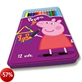Peppa Pig Scatola 12 Matite Colorate