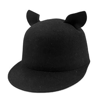 locomo fashion cat ear derby bowler
